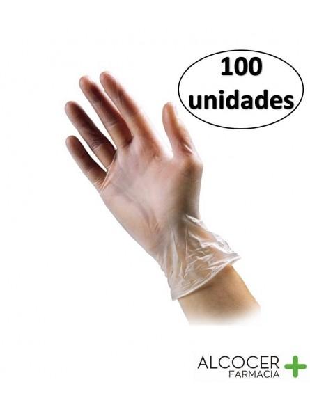 GUANTES VINILO SIN POLVO TALLA M 100 UD