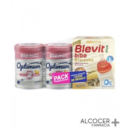 BLEMIL PLUS 2 OPTIMUM PACK 2 X 800 GR + PAPILLA
