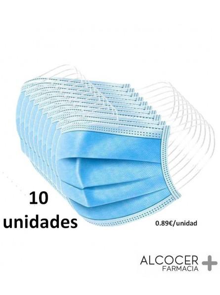 MASCARILLA QUIRURGICA 3 CAPAS 10 UNIDADES