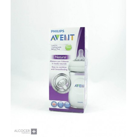 AVENT BIBERON NATURAL 260 ML 1M+
