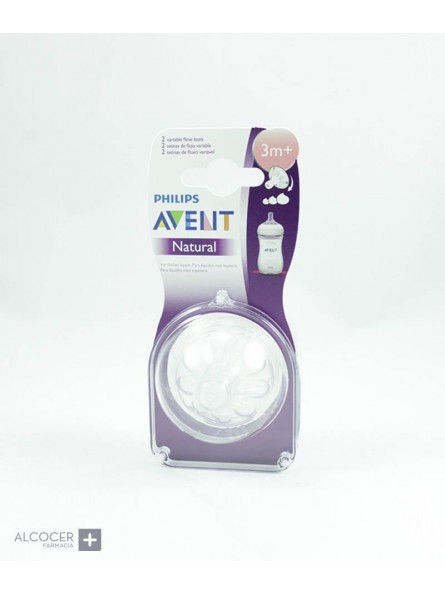 AVENT TETINA NATURAL FLUJO VARIABLE 2 UDS 3M+