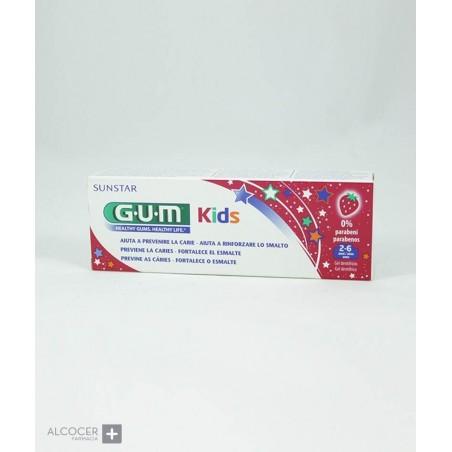 GUM PASTA DENTAL KIDS 2-6 AÑOS FRESA 50 ML