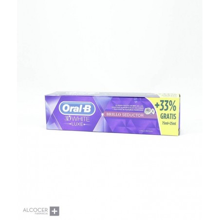 ORAL-B 3DWHITE LUXE PASTA BRILLO SEDUCTOR 75 ML
