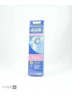 ORAL-B RECAMBIO SENSITIVE CLEAN 3 UNID