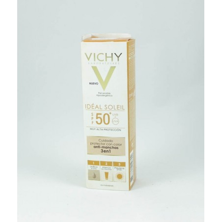 VICHY IDEAL SOLEIL SPF 50+ ANTIMANCHAS 3EN1 50ML