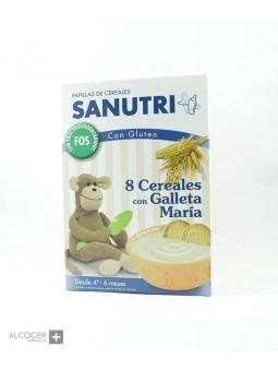 SANUTRI PAPILLA 8 CEREALES GALLETA MARIA 600 GR