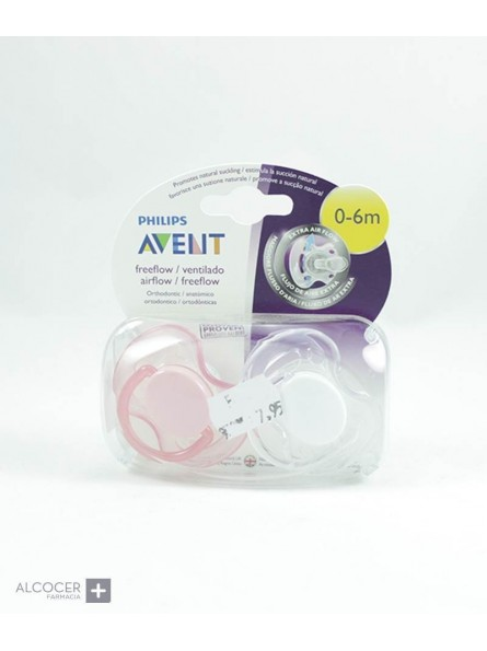 AVENT CHUPETE SILICONA FREE FLOW 0-6M