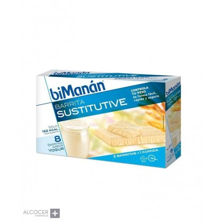 BIMANAN SUSTITUTIVE YOGUR 8 BARRITAS
