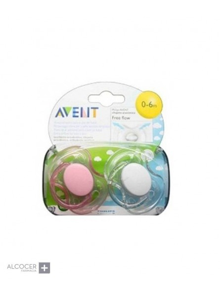 AVENT CHUPETE ANAT. 0-6 MESES FREEFLOW
