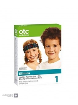 OTC 1 ELIMINA LOCION+CHAMPU PERMETRINA 1.5%