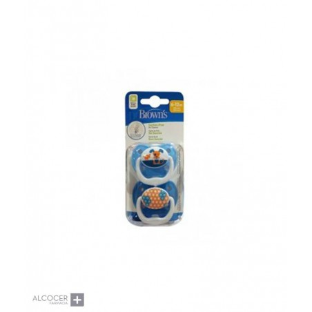DR BROWN´S CHUPETES PREVENT 6-18M ANIMALES 2 UD