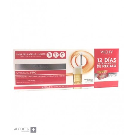 VICHY PACK DERCOS AMINEXIL MUJER 2 X 18AMPOLLAS