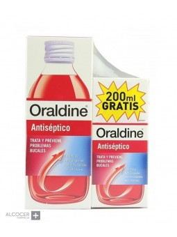 ORALDINE ANTISEPTICO PACK 400 ML + 200 ML