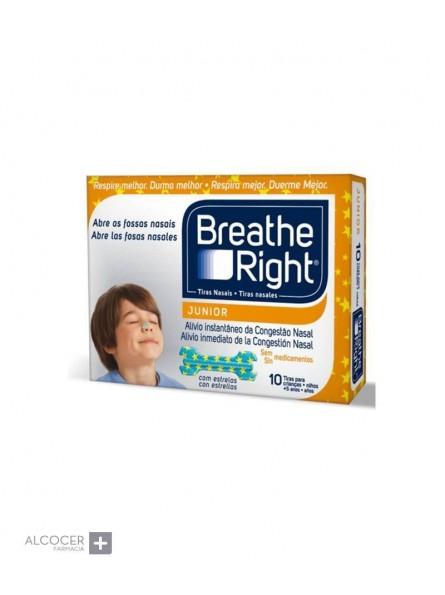 BREATHE RIGHT TIRAS NASALES JUNIOR +5 AÑOS 10 UN